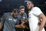 """""""Spurs"""" duetui sunkiai pavyksta atrasti žaidimą kartu"""