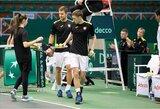 Lietuvos teniso rinktinė sužinojo varžovus kitame Daviso taurės etape