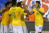 Brazilija sudorojo JAV rinktinę, Argentina neįveikė Meksikos