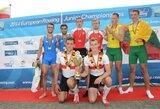 D.Nemeravičius ir A.Kelmelis unikaliai iškovojo Europos jaunių irklavimo čempionato bronzos medalius