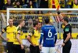 """Į išlikimą vis tvirčiau besikabinanti """"Schalke"""" ant menčių paguldė dvi raudonas korteles gavusią """"Borussia"""""""