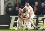 """Traumų nustekenti """"Manchester United"""" iškovojo dar vieną pergalę, R.Lukaku pelnė dublį"""