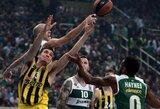 """Užtikrintai rungtynių pabaigą sužaidęs """"Panathinaikos"""" naujokas privertė turkus patirti pirmą nesėkmę """"Top-16"""" etape"""