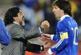 """D.Maradona: """"Man vadovaujant Argentinai L.Messi žaidė 5 kartus geriau"""""""