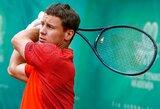 Rytų Europos teniso čempionate R.Berankis sutriuškino rusą