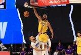 """""""Lakers"""" įveikė varžovus, rungtynių nebaigė A.Davisas"""