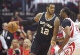 """T.Parkerio netektis nė motais: """"Spurs"""" susigrąžino namų arenos pranašumą"""