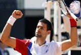 """""""ATP World Tour"""" serijos vytų teniso turnyre Romoje paaiškėjo ketvirtfinalių dalyviai"""
