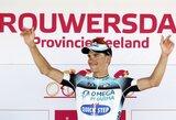 """G.Bagdonas sėkmingai pasirodė paskutiniame """"Eneco Tour"""" dviračių lenktynių etape, A.Kruopis finišo nepasiekė"""