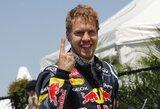 """S.Vettelis: """"Bolidas yra greitas ir be skylių dugne"""""""