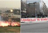 """""""Marseille"""" fanai šturmavo klubo treniruočių bazę: 25 žmonės areštuoti"""
