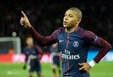 """U.Emery: """"K.Mbappe norėjo pereiti į """"Barcelona"""" ar """"Real"""", bet mes įkalbėjome jį pasilikti Prancūzijoje"""""""