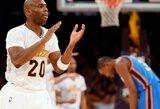 """""""Lakers"""" pranoko trigubą dublį surinkusio K.Duranto vedamą Oklahomos ekipą"""