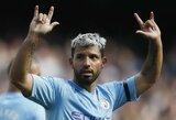"""P.Guardiola liaupsinio S.Aguero: """"Jis mirs pelnydamas įvarčius"""""""
