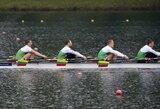 Europos irklavimo čempionate Lietuvos porinė keturvietė valtis iškovojo aukso medalius