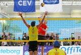 Lietuvos paplūdimio tinklininkai turnyre Švedijoje užėmė 13-ąją vietą