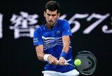 """""""Australian Open"""" ketvirtfinalyje – N.Djokovičiaus pergalė anksčiau laiko"""
