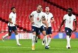 Anglija draugiškose rungtynėse sutriuškino Velso futbolininkus