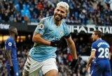 """""""Hat-tricku"""" ir rekordais prie """"Man City"""" pergalės prisidėjęs S.Aguero: """"Manau, kad surengėme vieną geriausių pasirodymų"""""""