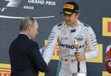 V.Putino akivaizdoje N.Rosbergas laimėjo ketvirtas lenktynes iš eilės, D.Kvyatas du kartus rėžėsi į S.Vettelį