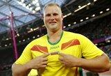 Lietuva to laukė 12 metų: disko metikas A.Gudžius – pasaulio čempionas!