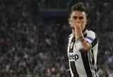 """Paskutinę minutę pelnytas P.Dybalos įvartis leidžia """"Juventus"""" tęsti kovą dėl čempionų titulo"""