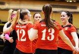 Netikėtumas Lietuvos tinklinio čempionate – VU merginos įveikė Baltijos lygos komandą