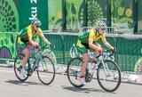 Europos žaidynių moterų grupinėse dviračių lenktynėse lietuvės dėl aukštų vietų nekovojo (komentarai)