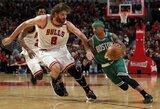 "K.Garnetto įkvėpta ""Celtics"" sutriuškino ""Bulls"" klubą"