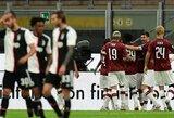 """Įspūdinga: 3 įvarčius per 5 minutes pelnęs """"AC Milan"""" panaikino 2 įvarčių deficitą ir parklupdė """"Juventus"""""""