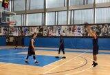 """Pamatykite: K.Pangosas """"Barcelona Lassa"""" treniruotėje kovojo tritaškių konkurso finale"""