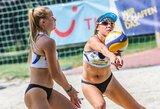 Lietuvos paplūdimio tinklininkės Europos jaunių čempionate – devintos