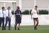 C.Ronaldo pirmą kartą treniravosi prižiūrimas A.Pirlo, G.Higuainas į klubą nebegrįš