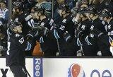 """""""Sharks"""" pratęsė pergalių seriją NHL lygoje"""