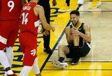 """Dar vienas smūgis """"Warriors"""" komandai: K.Thompsonui plyšo kelio raiščiai"""