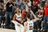 """Nustebinęs """"Trail Blazers"""" atsarginis svariai prisidėjo prie vėl puikiai žaidusio N.Jokičiaus ir """"Nuggets"""" pralaimėjimo"""