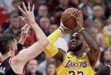 """L.Jameso vedama """"Lakers"""" nutraukė nemalonią seriją Portlande"""