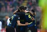 """Italijoje lijo įvarčiais, o """"Inter"""" išliko ketvirtoje vietoje"""