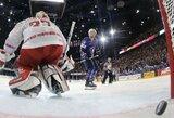 Po pratęsimo prancūzams pralaimėję Baltarusijos ledo ritulininkai iškovojo pirmą tašką pasaulio čempionate
