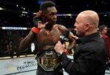 """""""UFC 248"""": 6 smūgiai per raundą, fanų švilpimas ir I.Adesanyos nepadorūs gestai"""