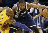 """Įžaidėjo vaidmenį perėmęs K.Bryantas atliko 13 rezultatyvių perdavimų, bet """"Lakers"""" sutriuškinta Oklahomoje"""