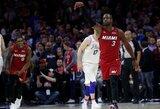 """Laikrodį atgal atsukęs D.Wade'as atvedė """"Heat"""" į pergalę"""