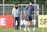"""Vokietijos rinktinės treniruočių stovyklą palikęs K.Havertzas užbaigs sandorį su """"Chelsea"""""""