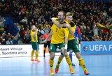 Lietuvos futsal rinktinė Europos čempionato atranką pradėjo įspūdinga pergale