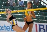 Lietuvos paplūdimio tinklininkės Europos jaunimo čempionate liko devintos