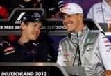 S.Vettelis ir M.Schumacheris sunerimę dėl lenktynių Nurburgringe likimo