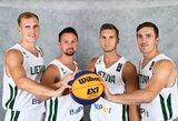 Lietuvos 3x3 krepšinio rinktinė startuos Europos čempionate