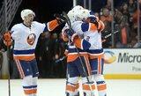 """Beprotiškoje baudinių serijoje keturioliktuoju bandymu """"Islanders"""" palaužė """"Ducks"""""""