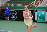 Gausybę dvigubų klaidų padariusi A.Paražinskaitė įtikinama pergale pradėjo teniso turnyrą Belgijoje