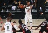 """23 taškų deficitą panaikinusi """"Bucks"""" užsitikrino pirmąją vietą Rytuose"""